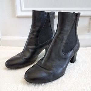AGL Classic Bootie Leather Ankle  Black